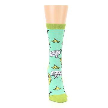 Image of Mint Green Banana Split Women's Dress Socks (front-04)