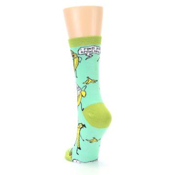 Image of Mint Green Banana Split Women's Dress Socks (side-2-back-16)