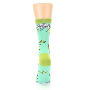 Image of Mint Green Banana Split Women's Dress Socks (back-18)