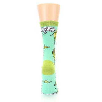 Image of Mint Green Banana Split Women's Dress Socks (back-19)