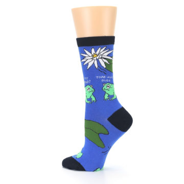 Image of Blue Green Toads Women's Dress Socks (side-2-13)