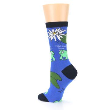 Image of Blue Green Toads Women's Dress Socks (side-2-back-14)