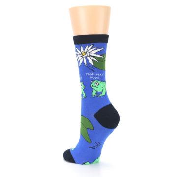 Image of Blue Green Toads Women's Dress Socks (side-2-back-15)
