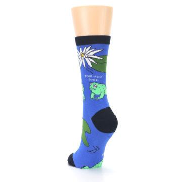 Image of Blue Green Toads Women's Dress Socks (side-2-back-16)