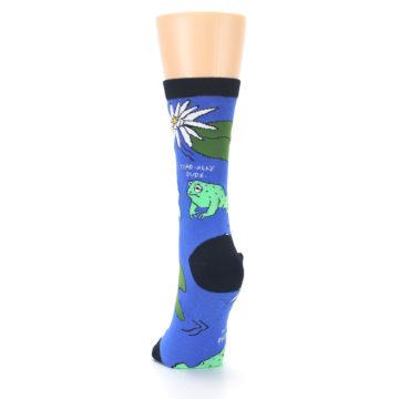 Image of Blue Green Toads Women's Dress Socks (back-17)