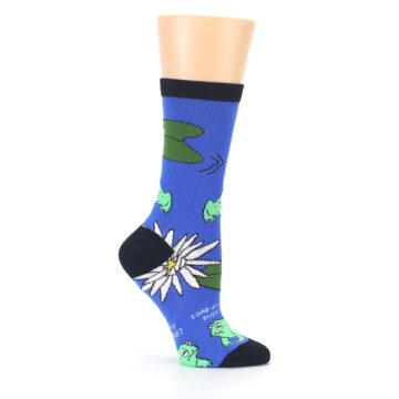 Image of Blue Green Toads Women's Dress Socks (side-1-25)