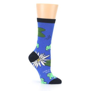 Image of Blue Green Toads Women's Dress Socks (side-1-26)
