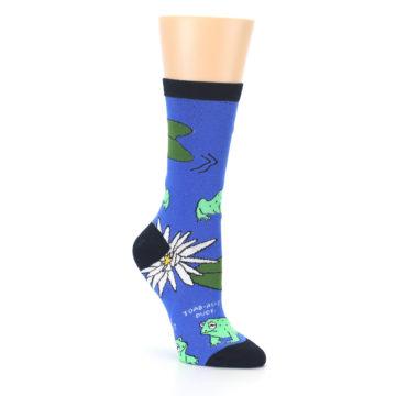 Image of Blue Green Toads Women's Dress Socks (side-1-27)