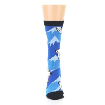 Image of Blue Black Polar Bear Women's Dress Socks (front-05)