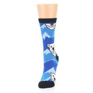 Image of Blue Black Polar Bear Women's Dress Socks (side-2-front-07)