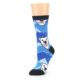 Image of Blue Black Polar Bear Women's Dress Socks (side-2-09)