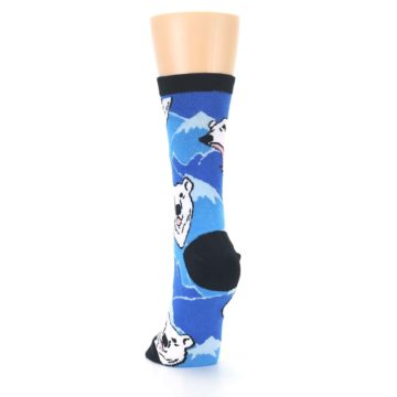 Image of Blue Black Polar Bear Women's Dress Socks (back-17)