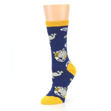 Image of Navy Seal of Approval Women's Dress Socks (side-2-09)