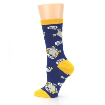 Image of Navy Seal of Approval Women's Dress Socks (side-2-13)