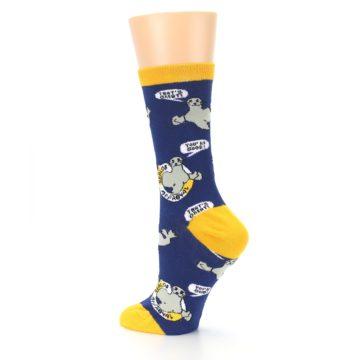 Image of Navy Seal of Approval Women's Dress Socks (side-2-back-14)