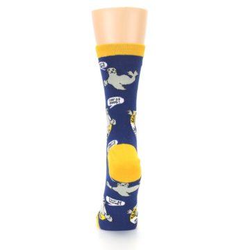Image of Navy Seal of Approval Women's Dress Socks (back-18)