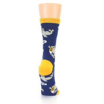 Image of Navy Seal of Approval Women's Dress Socks (side-1-back-20)
