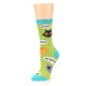 Image of Lime Green Talking Cats Women's Dress Socks (side-2-09)