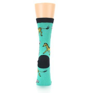 Image of Green Black White Zebras Women's Dress Socks (back-19)