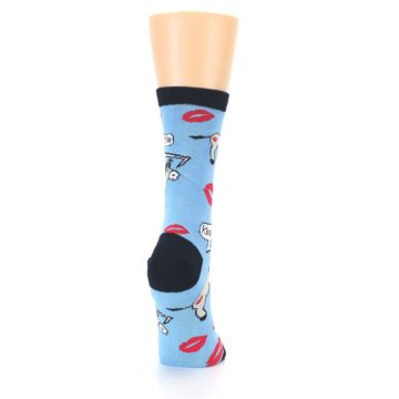 Image of Blue Kiss My Ass Women's Dress Socks (side-1-back-20)