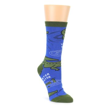 Blue Green Alligators Women's Dress Socks oooh yeah socks