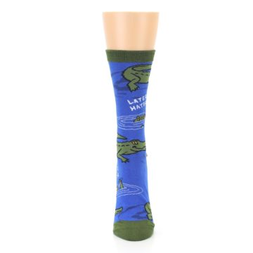 Image of Blue Green Alligators Women's Dress Socks (front-05)