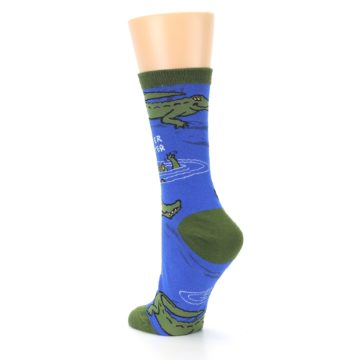 Image of Blue Green Alligators Women's Dress Socks (side-2-back-15)
