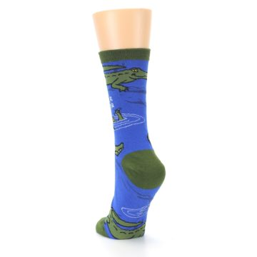 Image of Blue Green Alligators Women's Dress Socks (side-2-back-16)