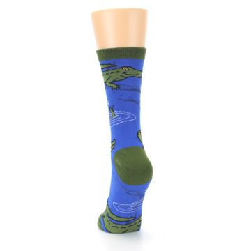 Image of Blue Green Alligators Women's Dress Socks (back-17)