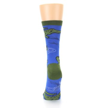Image of Blue Green Alligators Women's Dress Socks (back-18)