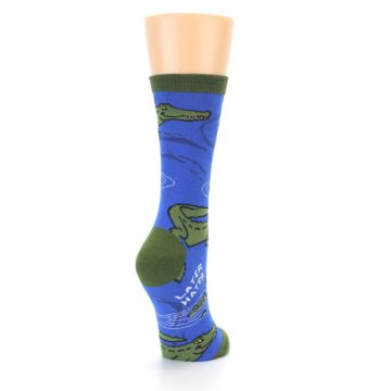 Image of Blue Green Alligators Women's Dress Socks (side-1-back-21)