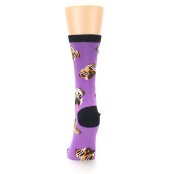 Image of Wisteria Purple Cool Pugs Women's Dress Socks (back-18)
