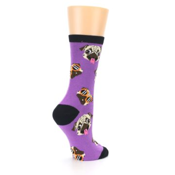 Image of Wisteria Purple Cool Pugs Women's Dress Socks (side-1-23)