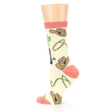Image of Canary Brown Cowboy Gear Women's Dress Socks (side-2-13)