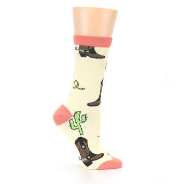 Image of Canary Brown Cowboy Gear Women's Dress Socks (side-1-25)