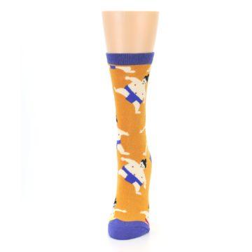 Image of Orange Sumo Wrestlers Women's Dress Socks (side-2-front-06)