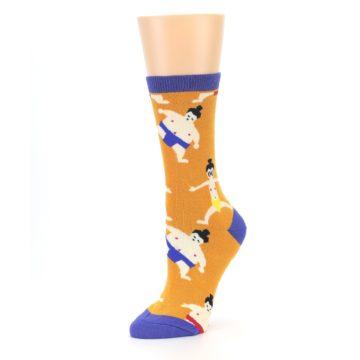 Image of Orange Sumo Wrestlers Women's Dress Socks (side-2-09)