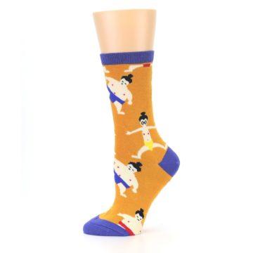 Image of Orange Sumo Wrestlers Women's Dress Socks (side-2-11)