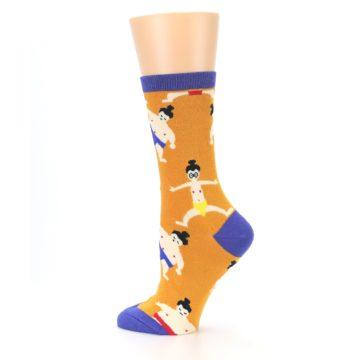 Image of Orange Sumo Wrestlers Women's Dress Socks (side-2-13)