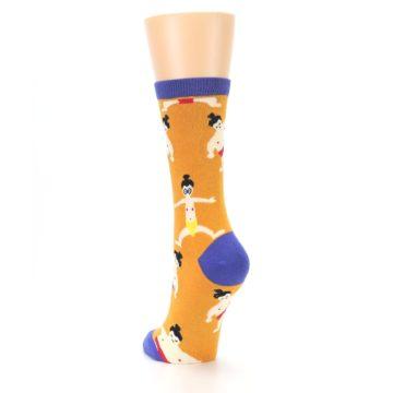 Image of Orange Sumo Wrestlers Women's Dress Socks (side-2-back-16)