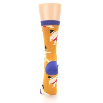 Image of Orange Sumo Wrestlers Women's Dress Socks (back-18)