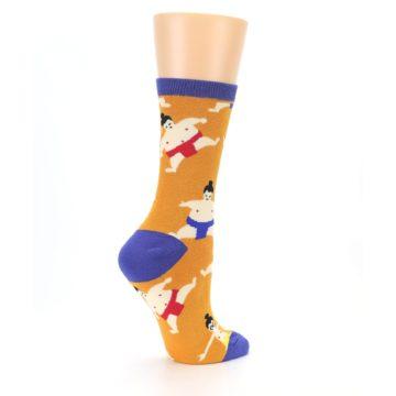 Image of Orange Sumo Wrestlers Women's Dress Socks (side-1-23)