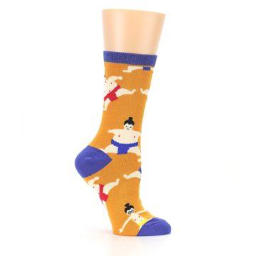 Image of Orange Sumo Wrestlers Women's Dress Socks (side-1-25)