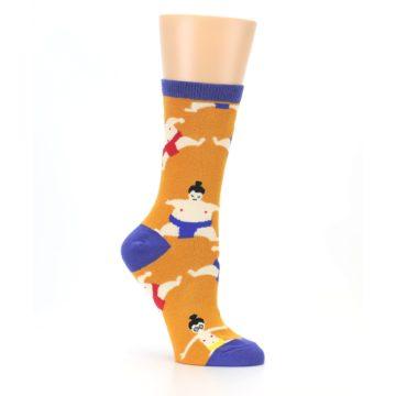 Image of Orange Sumo Wrestlers Women's Dress Socks (side-1-26)