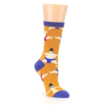 Image of Orange Sumo Wrestlers Women's Dress Socks (side-1-27)