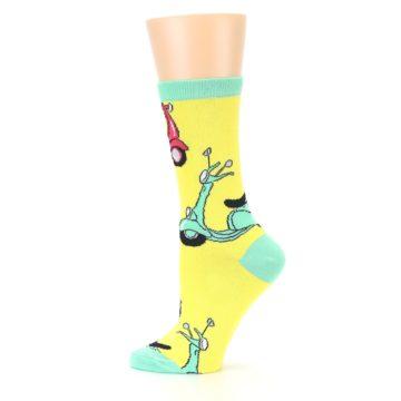 Image of Yellow Mint Mopeds Women's Dress Socks (side-2-12)