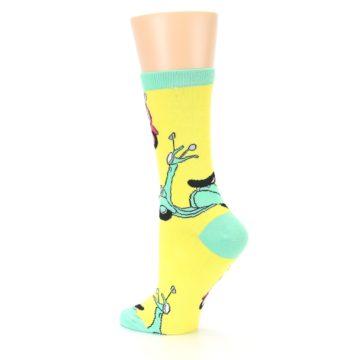Image of Yellow Mint Mopeds Women's Dress Socks (side-2-back-14)