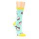 Image of Mint Bacon and Eggs Breakfast Women's Dress Socks (side-1-front-01)