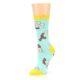 Image of Mint Bacon and Eggs Breakfast Women's Dress Socks (side-2-09)