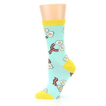 Image of Mint Bacon and Eggs Breakfast Women's Dress Socks (side-2-11)